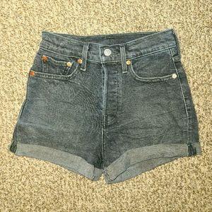 Levi's Shorts - Dark vintage washed+cuffed